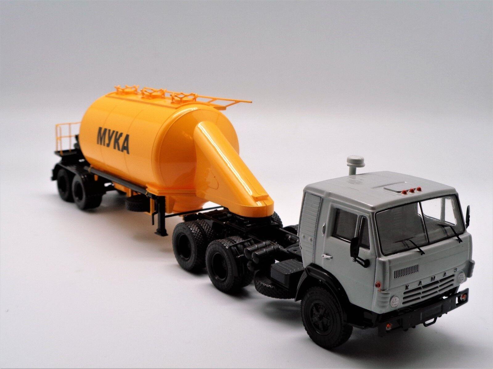 Kamaz 54112 + transporte de harina ASP 25 SSM7032 1 43