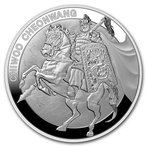 1 Clay Chiwoo Cheonwang Proof South Korea Südkorea 1 Oz Silber Pp 2017 Heller Glanz
