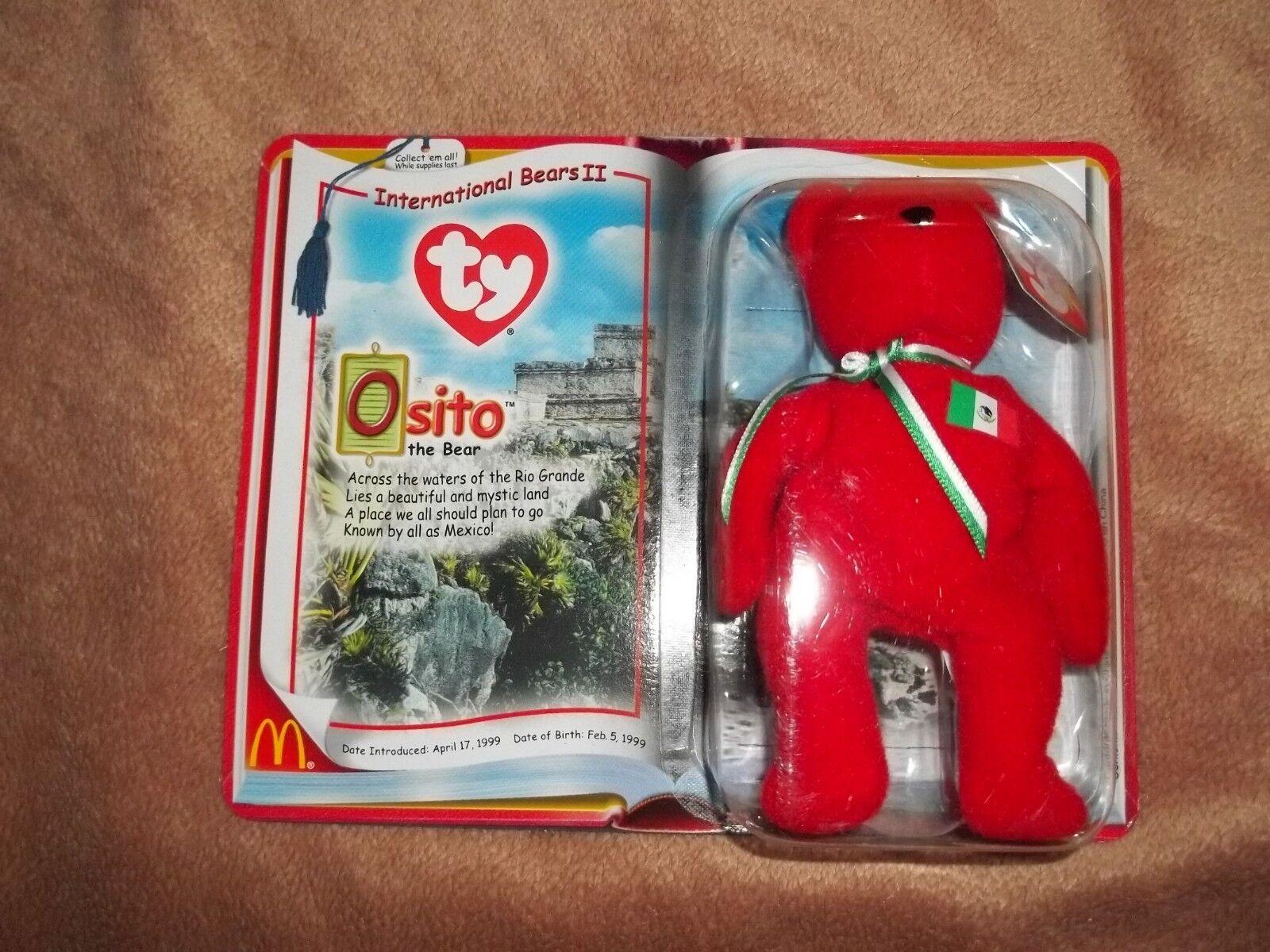Ty Beanie Baby International Bears II Rare Osito Bear - Brand New