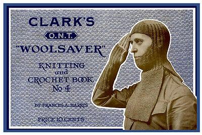 Clark/'s ONT #4 c.1918 Vintage Knitting /& Crochet Patterns Includes Service Knits