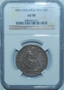 1853-NGC-AU50-Arrows-and-Rays-Liberty-Seated-Half-Dollar