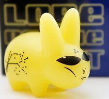 """Kidrobot Kozik Mini Labbit 1.5"""" Figure Lore of the Alien Glow in the Dark Zeta"""