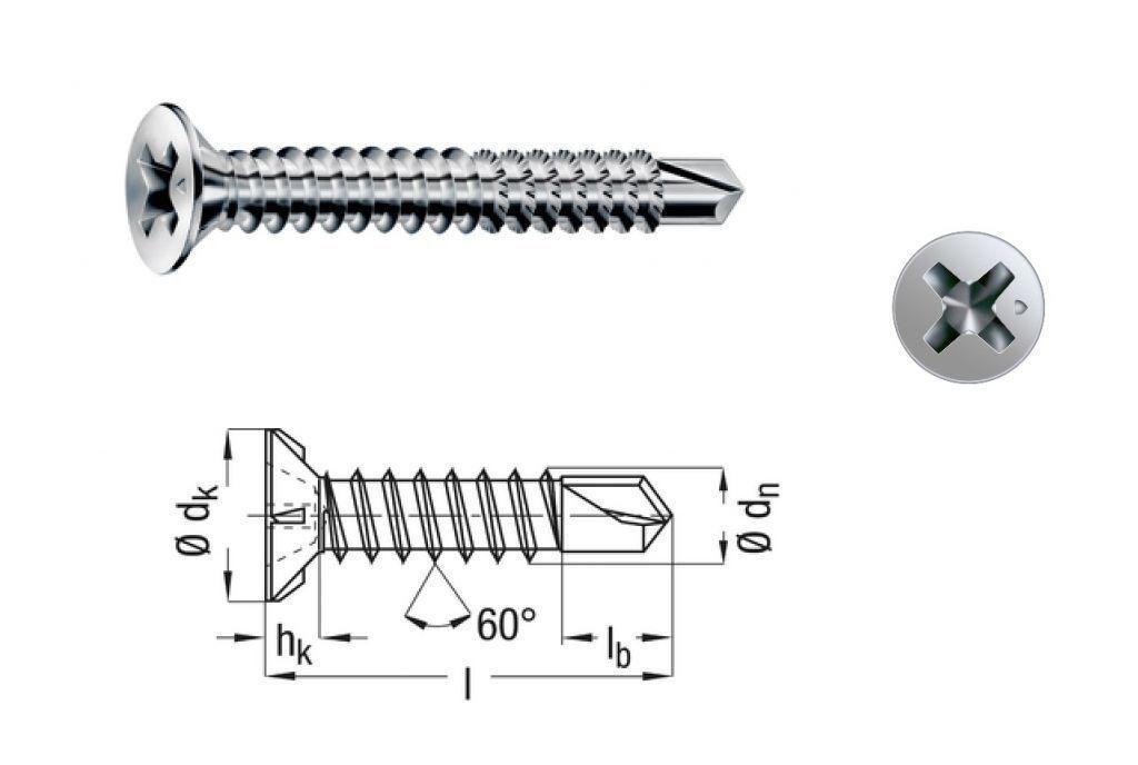ABC Spax FEX-A Beschlag Schraube 3,9x16 mm silber verz.für KS Holz Fenster & Tür