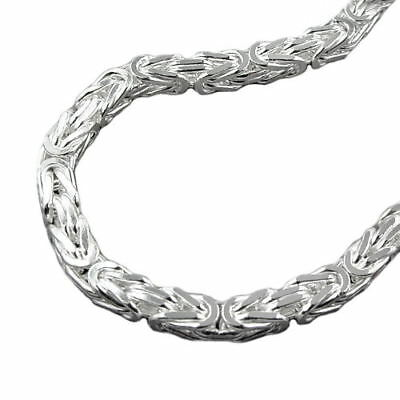 Aggressiv 4 Mm Königskette Massiv Männer Armkette Armband 21 Cm Karabiner Echt Silber 925 Kaufe Eins, Bekomme Eins Gratis