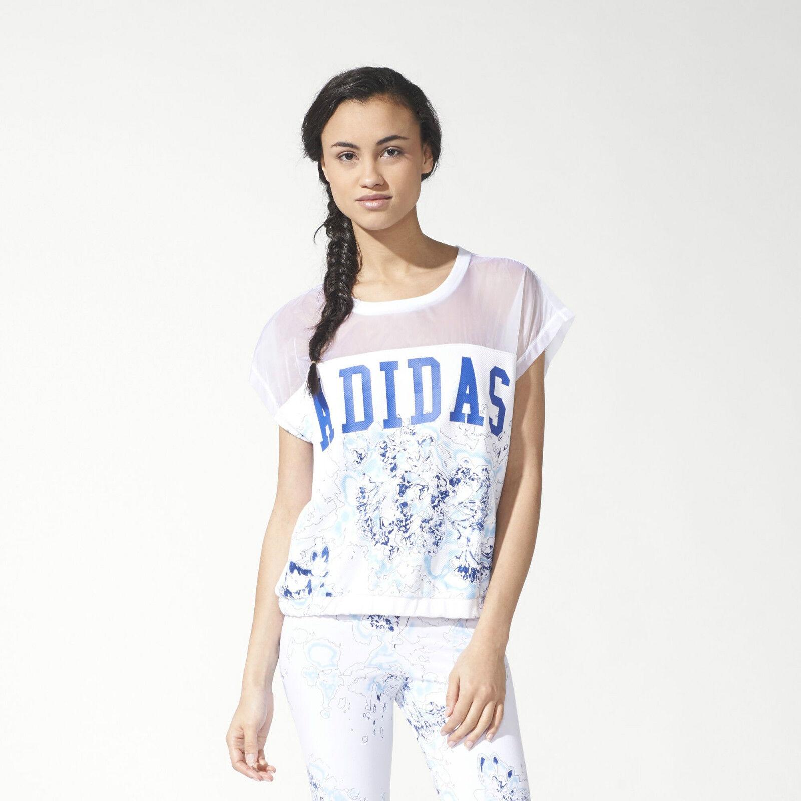 Adidas Originals W London Printed Weiß Tee Größe New ID S19981 (549)