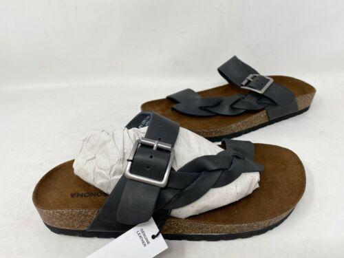 Sonoma Women/'s Air Brush SlipOn Strappy Buckle Sandals Black #60769 167U tk NEW
