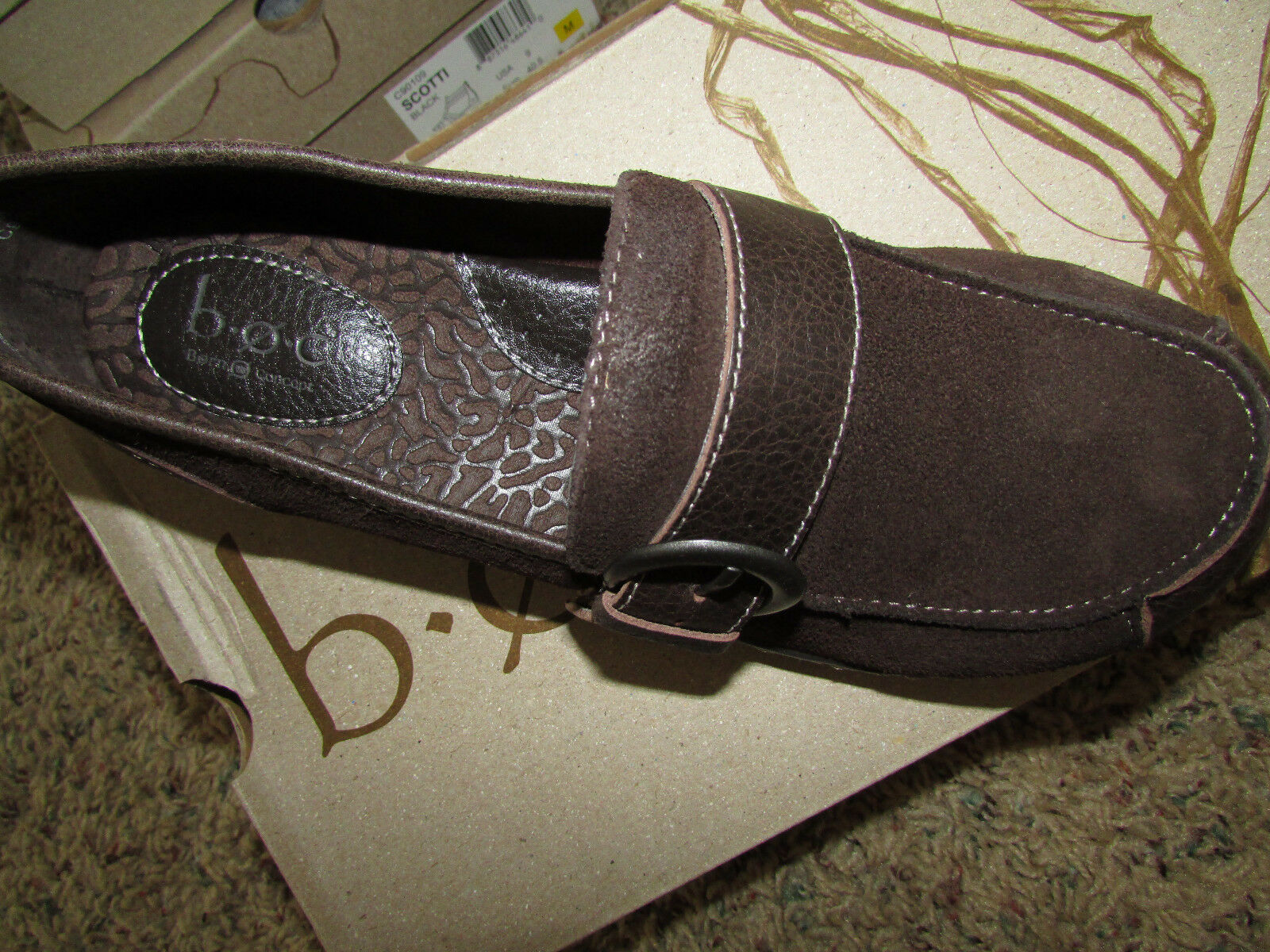 NEW BORN B.O.C HUFFMAN BROWN LOAFER Schuhe Damenschuhe 8.5 C97023 SUEDE FREE SHIP