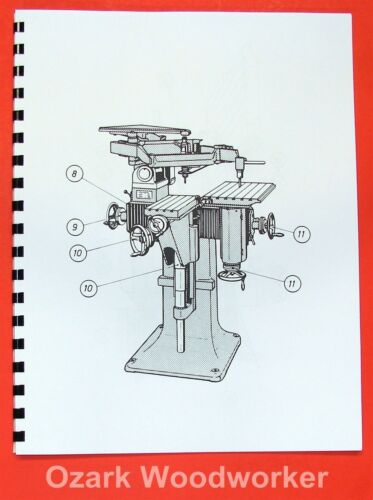 DECKEL GK 12 /& GK 21 Engraver Profiling Miller Parts Manual GK12 GK21 0196