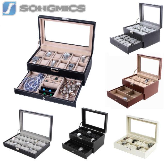 TOP Uhrenbox Uhrenkoffer Für Uhren Uhrentruhe Uhrenkasten Uhrenschatulle JWB