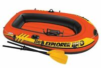 Intex Explorer Pro 200 Inflatable Two Person Raft Boat Set - Orange | 58357EP