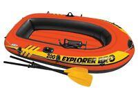 Intex Explorer Pro 200 Inflatable Two Person Raft Boat Set - Orange | 58357ep on sale
