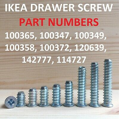Part # 100347 NEW 3 Ikea Drawer rail screws