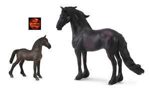 Brand New Black Horse and Foal Friesian Toy Model Figures by CollectA