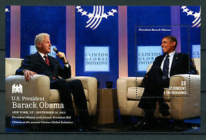 St Vincent & Grenadines 2013 MNH US President Barack Obama 1v S/S Clinton Stamps