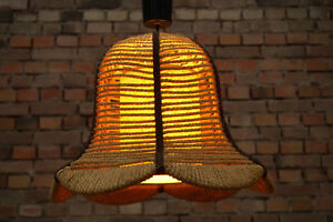 Image Is Loading 70s Ceiling Lamp Pendant Lamp Sisal Boho Light
