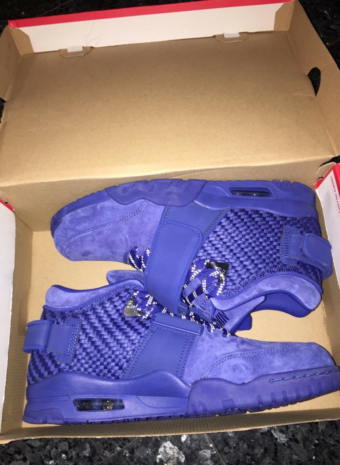 NEW Mens Nike Air Trainer Victor Cruz Premium Rush bluee   Gym Red Size 11