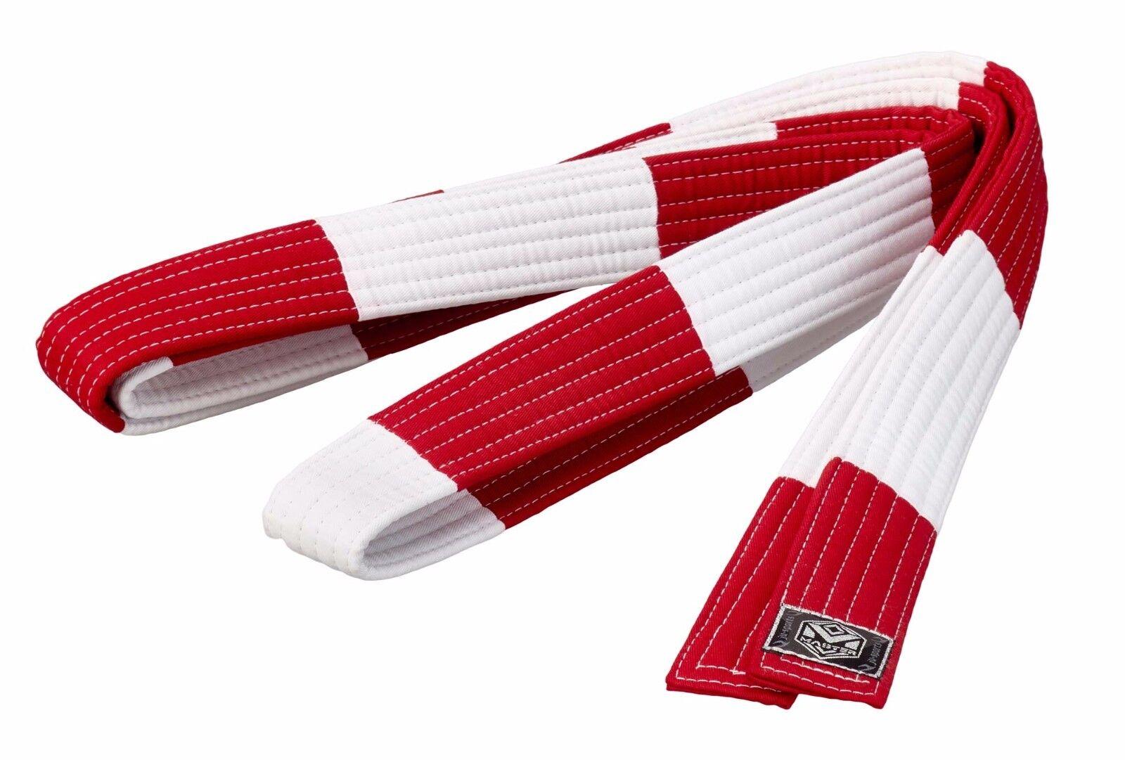 Ju-Sports Großmeistergürtel  Master  6. Dan rot weiß weiß weiß 5cm -  Ju-Jutsu - Judo 00ed0d
