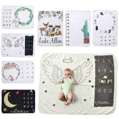 10 Style Newborn Baby Girls Boy Blanket Milestone Photography Photo Props Cloth