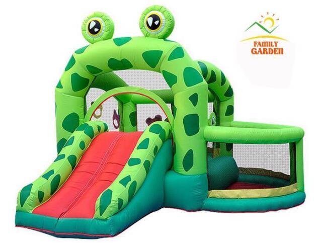 Buy Castle Pool Slider Inflatable Frog Bounce House Bouncer Moonwalk