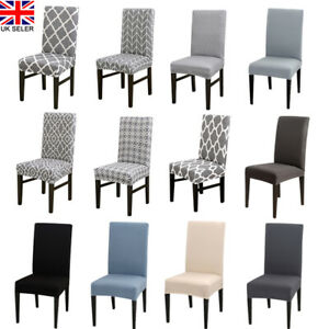 Dining-Chair-Seat-Covers-Slip-Cover-Stretch-Wedding-Banquet-Party-Removable-Grey