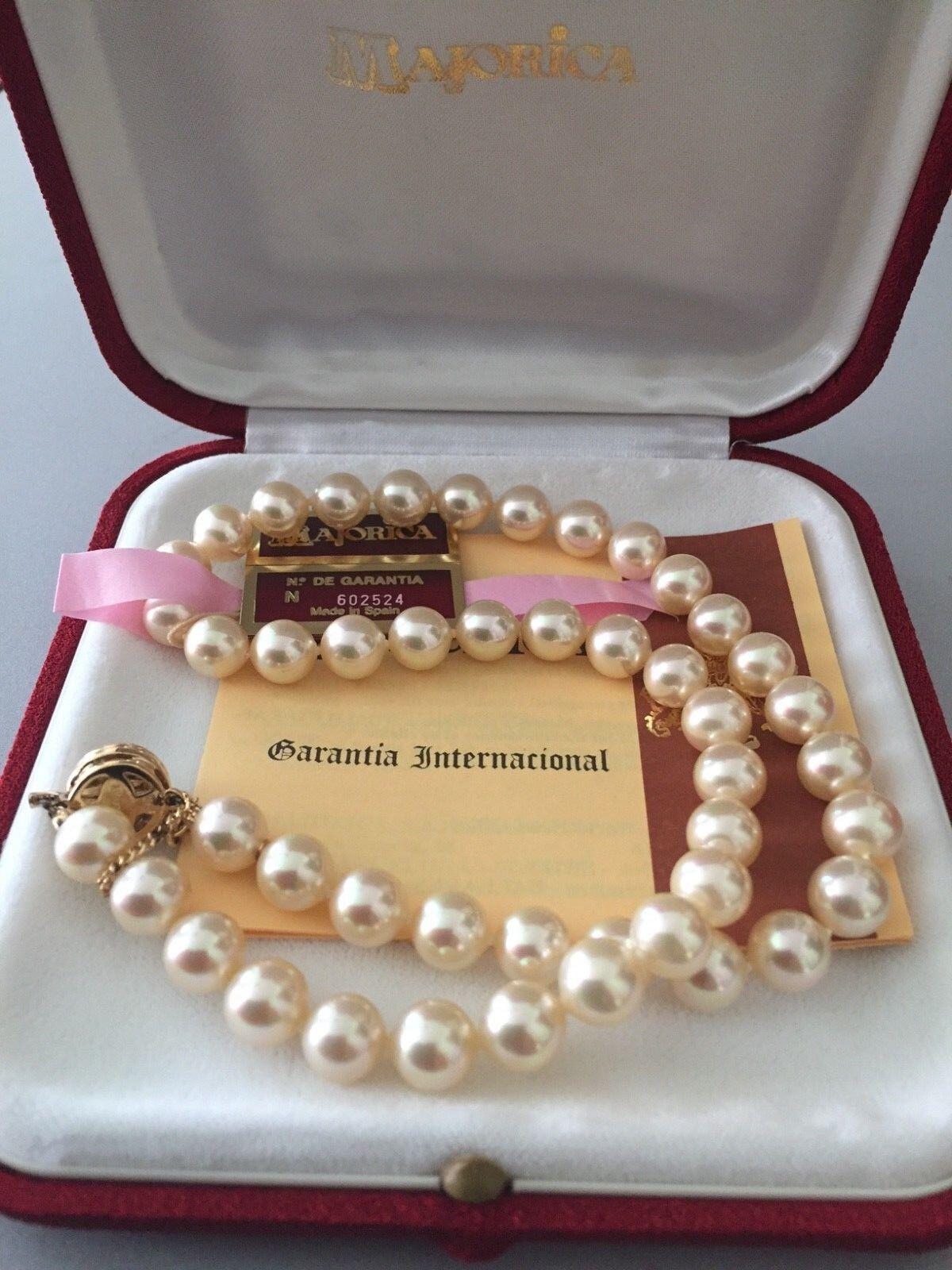 Majorica Pearls - 80cm long x 7mm Pearls