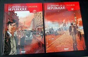 LES-MYSTERES-DE-LA-5E-REPUBLIQUE-RAVARD-RICHELLE-2-ALBUMS-EO-GLENAT-NEUFS