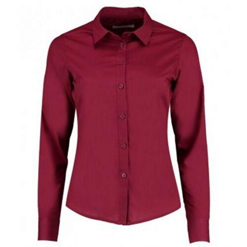 Kustom Kit Womens//Ladies Long Sleeve Tailored Poplin Shirt PC3157
