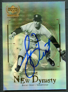 Bucky Dent #ND10 signed autograph auto 2000 Upper Deck Yankees Legend Card