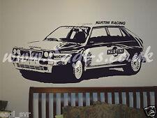 Vinyl wall art Lancia Delta intergrali rally car inspired decal. track day XXL