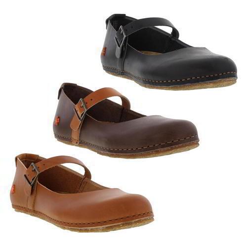 The Art Shoe Company 0471 Womens Creta Womens 0471 Black Brown Leather Shoes Size 89059c