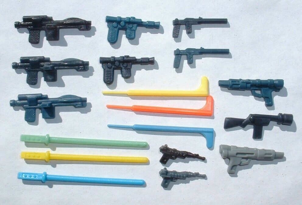 18 NICE REPRO FLOAT Weapon Blasters LOT 1977 - 12+6 Lightsabers Vintage Star War