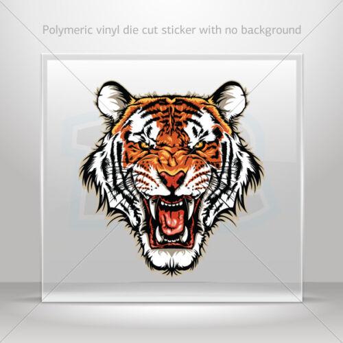 Sticker Decals Angry Tiger Head Helmet Motorbike Bike Garage st5 X3958