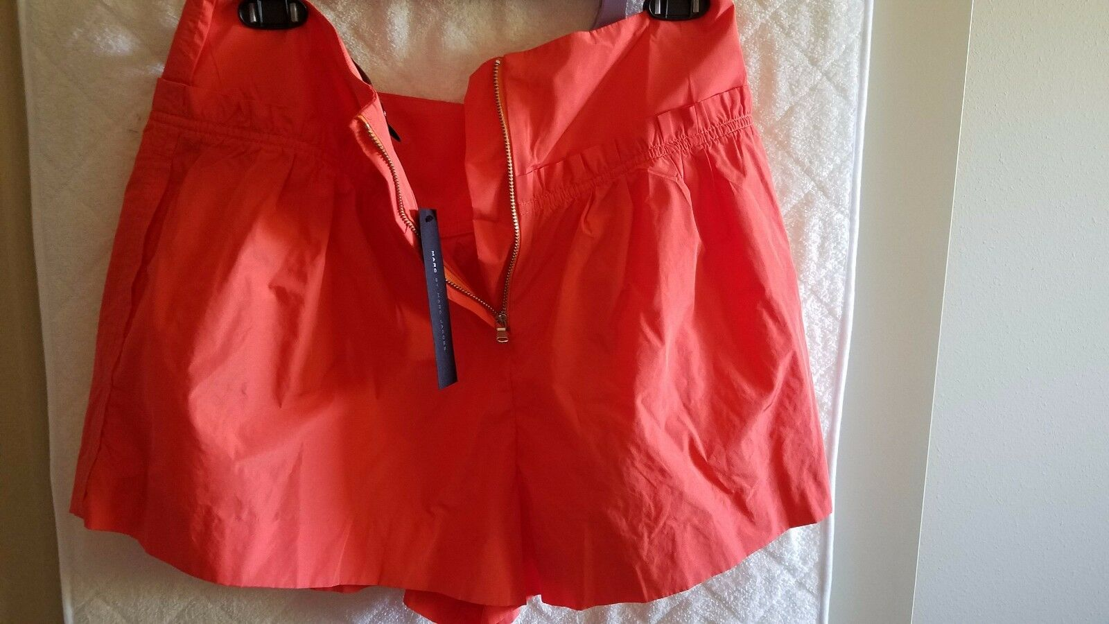 Women's orange Marc Jacobs shorts, size 8, brand new never word, tags on