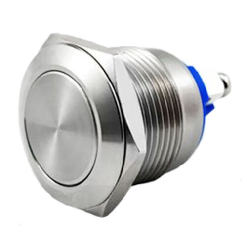 Acero Inoxidable 19 mm a prueba de agua interruptor de arranque cuerno botón momentáneo de barco