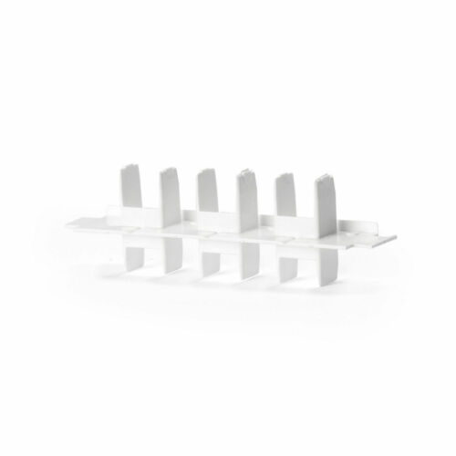 Zubehör für Gardinenschienen PVC 1,2,3–Läufig Verbinder Endkappen Faltengleiter