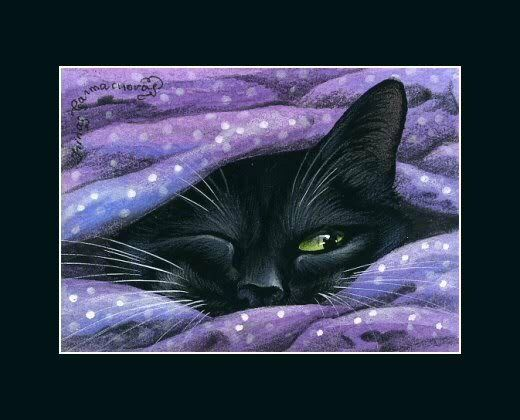 Black Cat ACEO Print Do I Need To... by I Garmashova