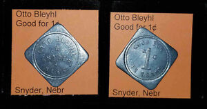 OTTO-BLEYHL-SNYDER-NEBRASKA-SET-OF-5-GOOD-FOR-1-2-5-10-25-IN-TRADE-TOKENS