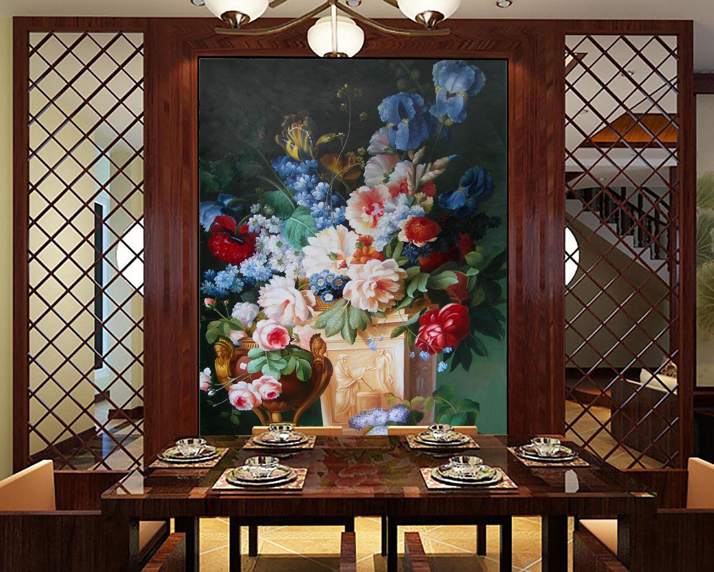 3D Flower Bloom 708 Wallpaper Mural Wall Print Wall Wallpaper Murals US Lemon
