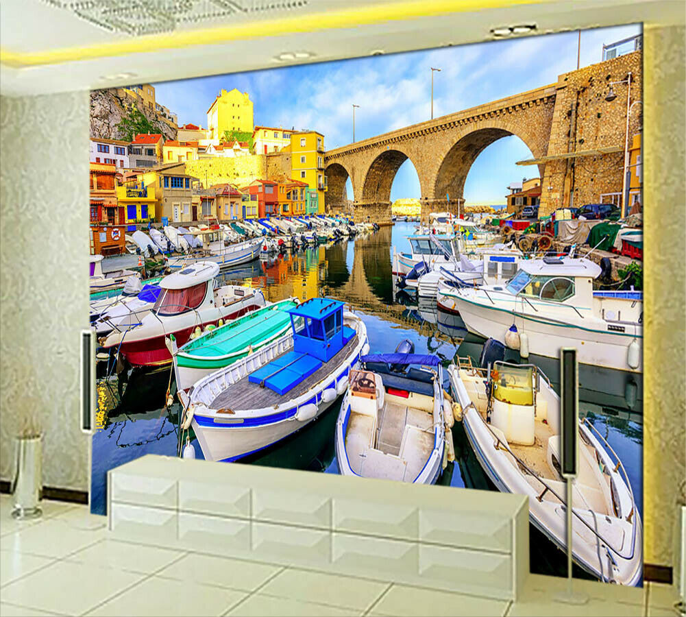 Aquatic World Venice 3D Full Wall Mural Photo Wallpaper Printing Home Kids Decor