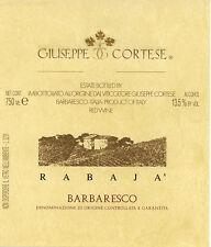 "6 BT. BARBARESCO DOCG ""RABAJA' "" 2014 CORTESE GIUSEPPE"