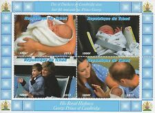 ROYAL BABY GEORGE KATE AND WILLIAM LADY DIANA MNH STAMP SHEETLET