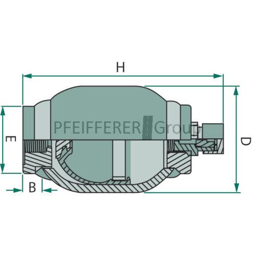 Granito membranenspeicher 250 bar membrana memoria 320 cm³ m18x1,5