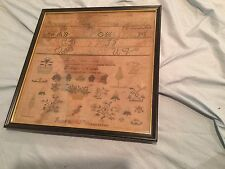 Antique 19th C. Framed Needlework Sampler
