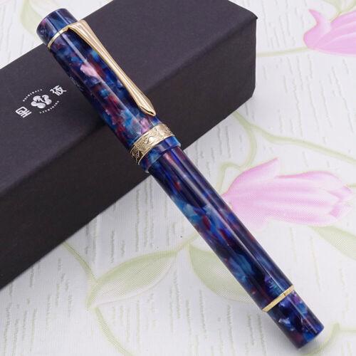 LIY Marble Resin Acrylic Fountain Pen Schmidt Nib /& Converter F Gift Box-Caofan