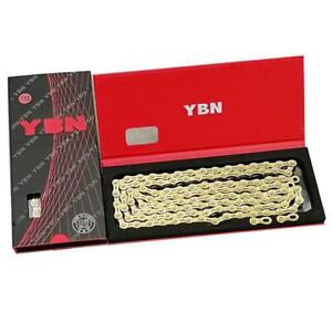 YBN-11-Speed-Bike-Chain-MTB-Mountain-Road-Bicycle-Boxed-Chain-Gold-Hollow-Design