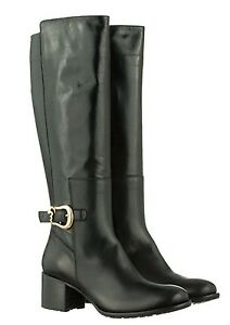 Shoes Heels Boots Stiefel Made 42 Stivali Leather Nero Mori Knee Italy Black In 48InHf