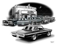 Thunderbird 55,57,60,65,66 Car Art Auto Print Free Usa Shipping