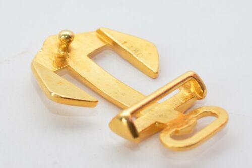 pour environ à 34 mm de large en or ou argent Massive Boucle de ceinture forme ancre