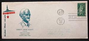 US-Illustrated-Cover-FDC-Liberty-Hyde-Bailey-Stamp-3c-USA-First-Day-H-7220