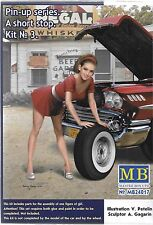 Master Box Pin Up Girl, Gal in 1/24 Kit No. 3 Compliment to Cars in 1/24  017 ST